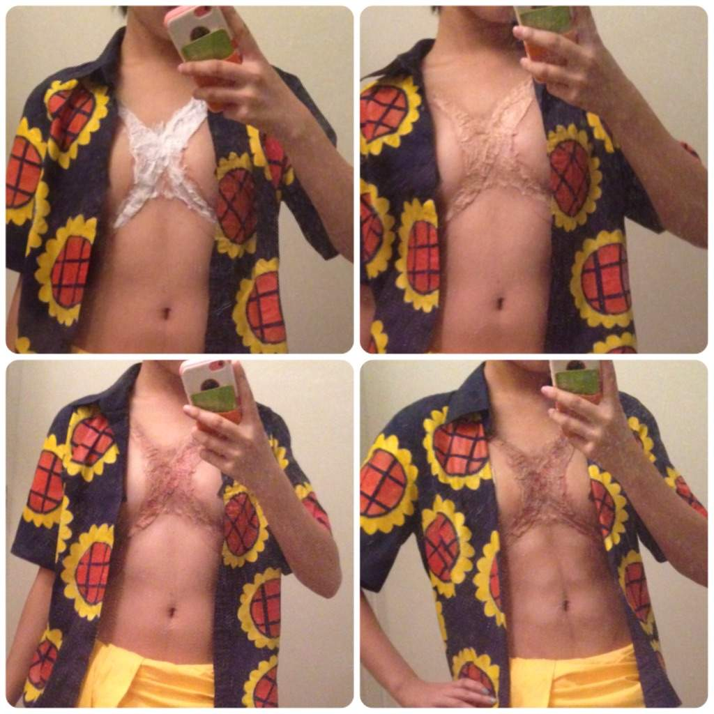Luffy Chest Scar Ab Makeup Cosplay Amino