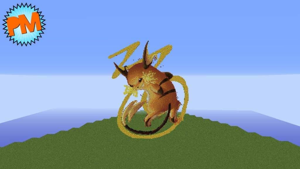 Raichu Pixelart Minecraft Amino