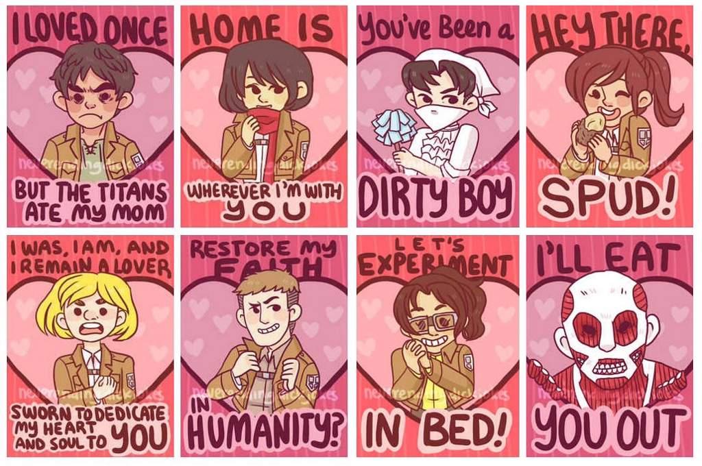 Aot Valentine Cards Anime Amino