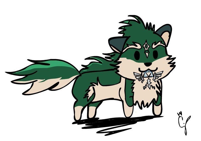 Chibi Anime Wolf Coloring Pages
