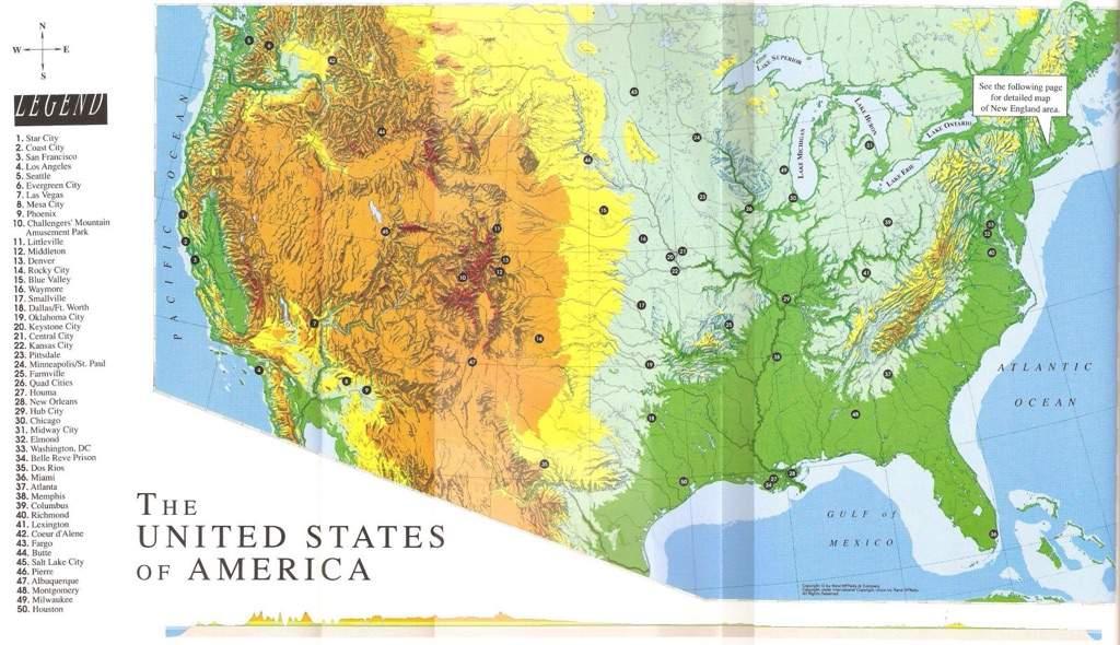 Dc Map Of America Comics Amino