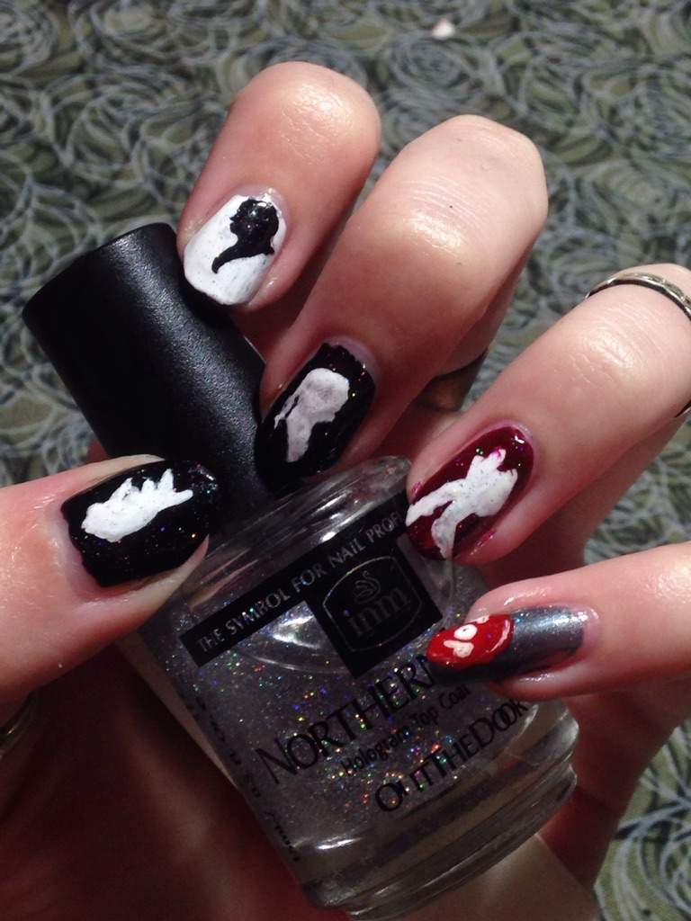 Addams Family Nails! | Nail Art Amino