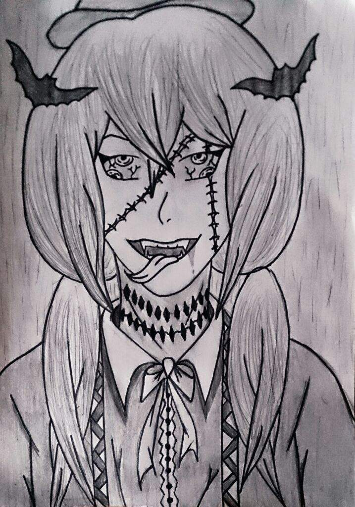 I decided to draw something for halloween. It\u0027s not an anime or manga  character. I hope you like it !