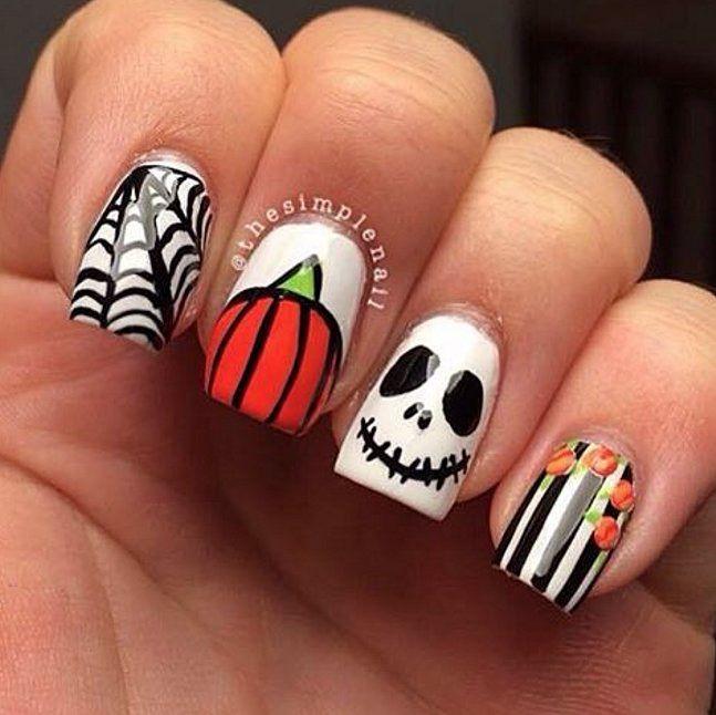 Pumpkin Inspired Halloween Nail Art Nail Art Amino