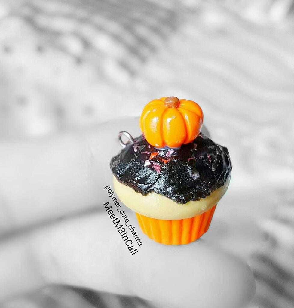 halloween pumpkin cupcake   polymer clay   crafty amino