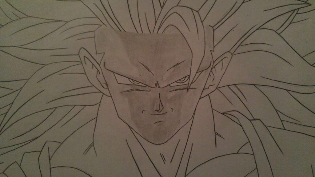 How to Draw Goku Super Saiyan 3 Part 2  Shading  Anime Amino