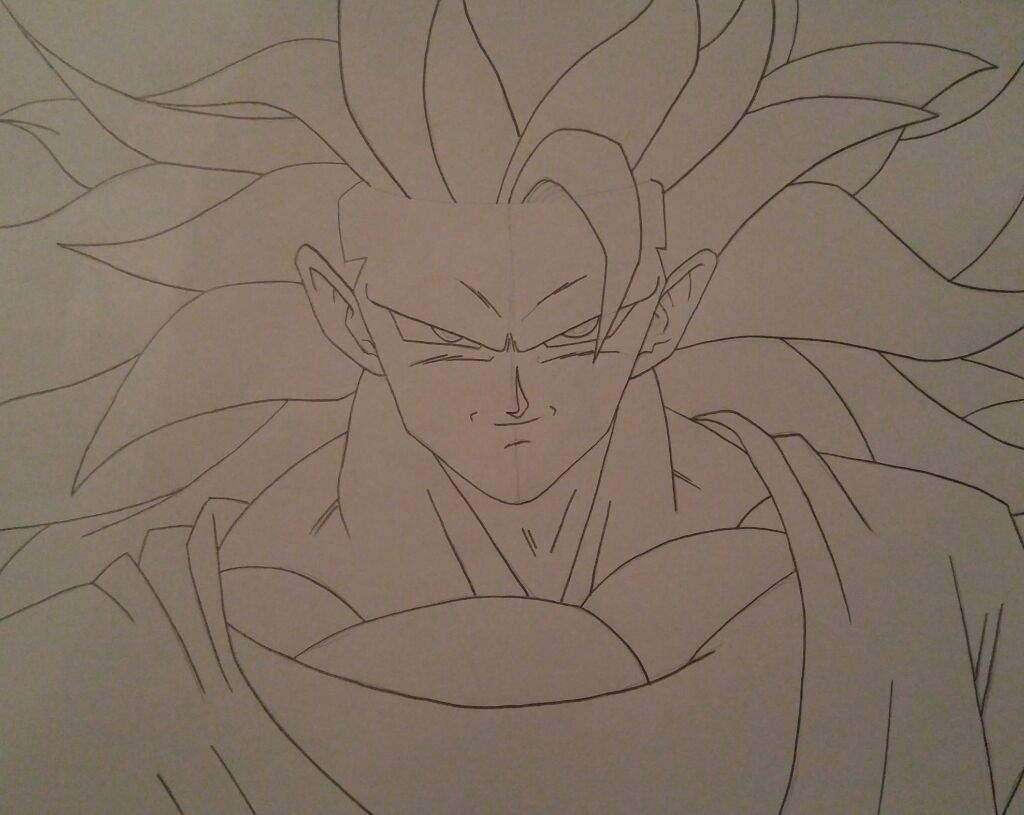 how to draw goku super saiyan 3
