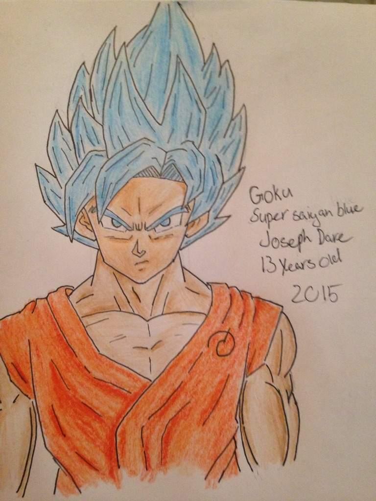 My Drawing Of Goku Super Saiyan Blue Anime Amino