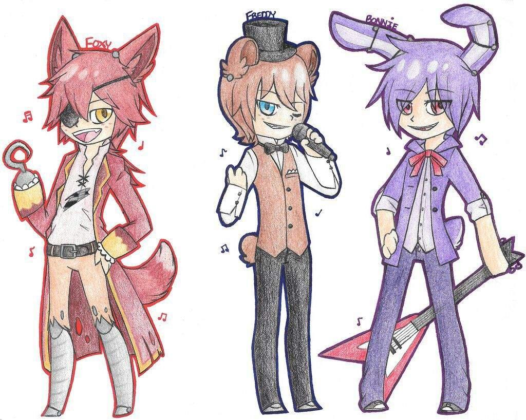 fnaf drawings anime amino
