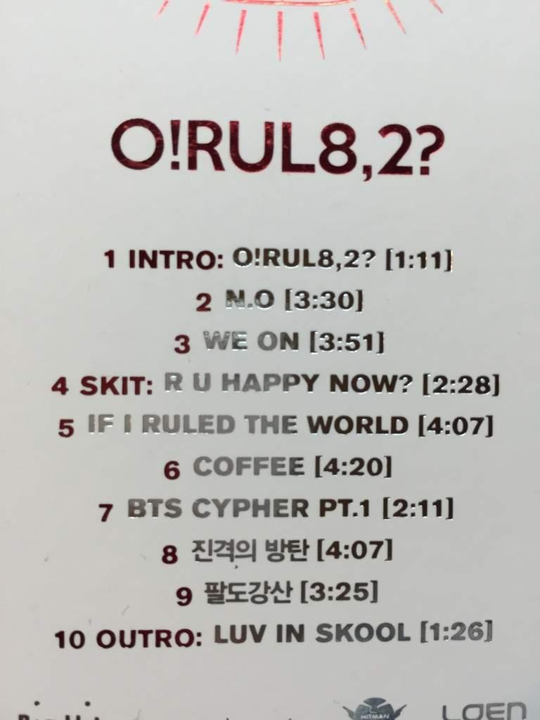 Unboxing Bts O Rul8 2 1st Mini Album K Pop Amino