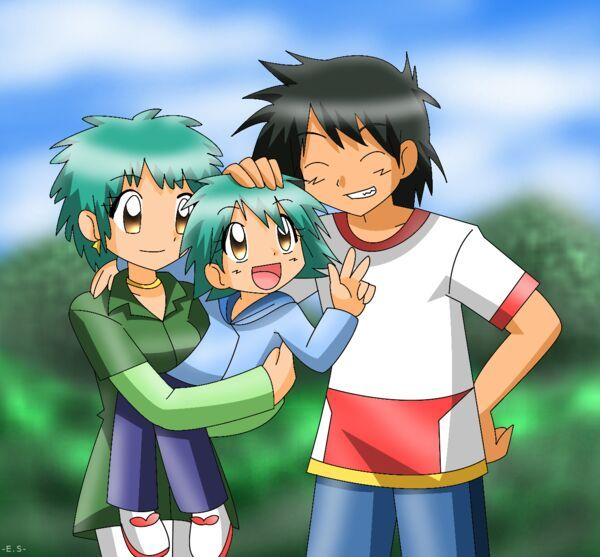 Pokemon ash and angie me