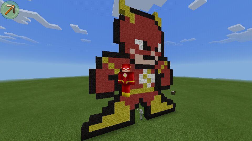 The Flash Pixel Art Minecraft Amino