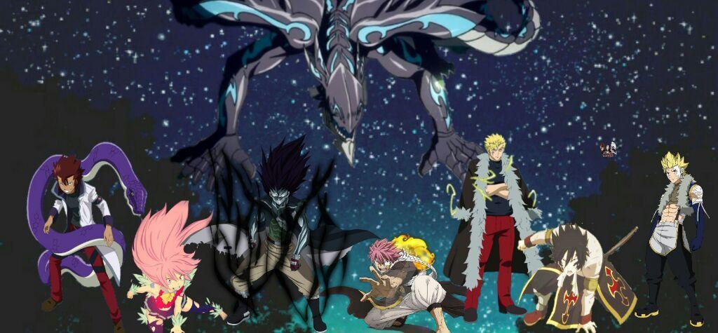 Resultado de imagem para sete dragon slayers e acnologia