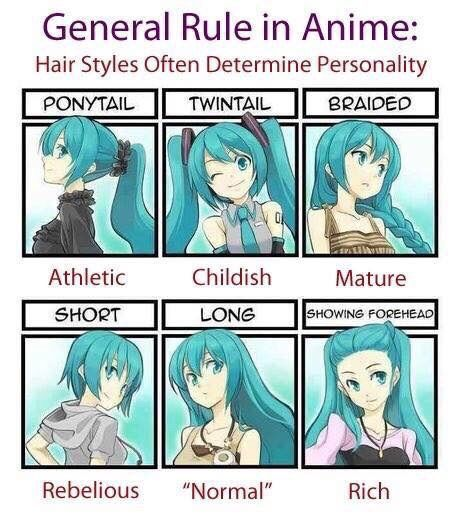 ANIME HAIRSTYLES AND PERSONALITY Anime Amino - Anime hairstyle and personality