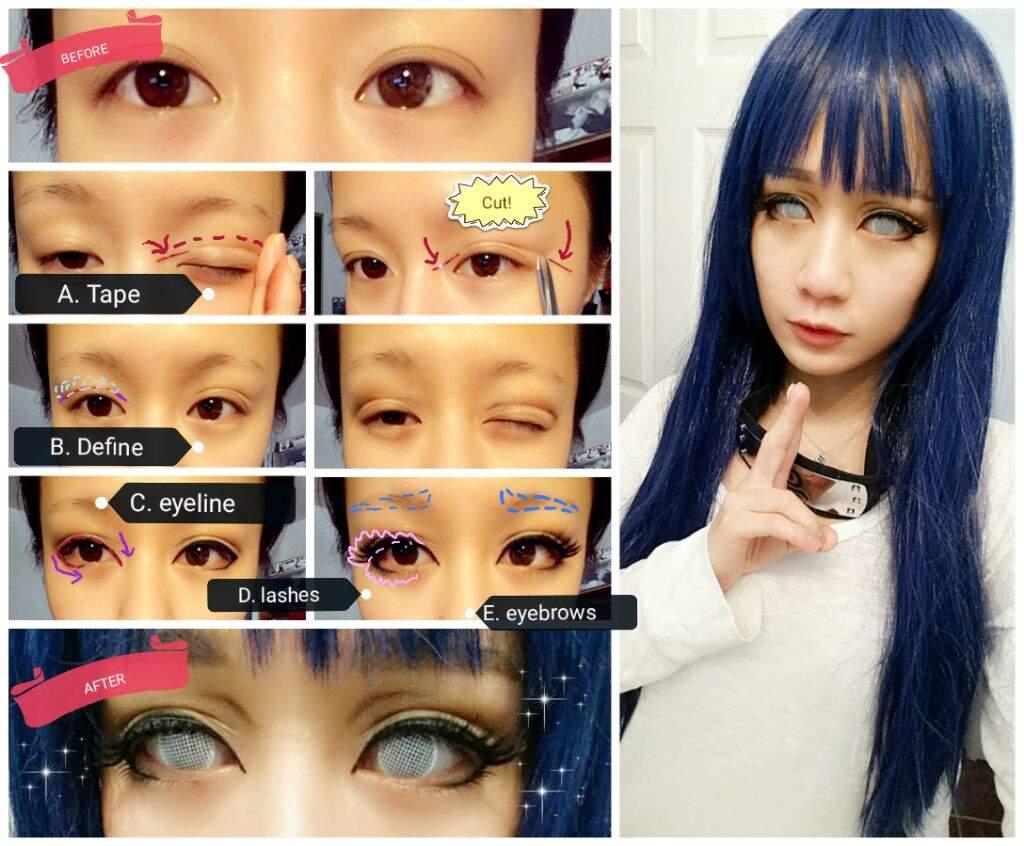 Female makeup tutorial using eyelid tape cosplay amino baditri Gallery
