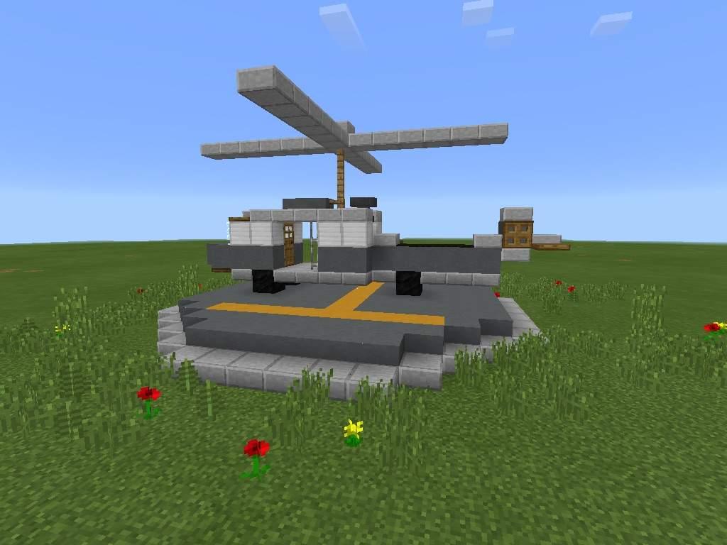 как сделать вертолёт в майнкрафте без модов #3
