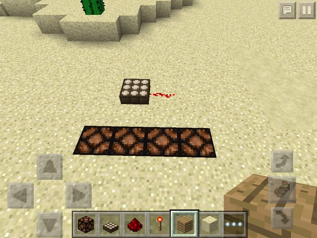 Redstone daylight sensor minecraft pocket edition mcpe 0130 fill the space with redstone lamps and bring a daylight sensor with you and put it one block away from the second redstone lamp aloadofball Images