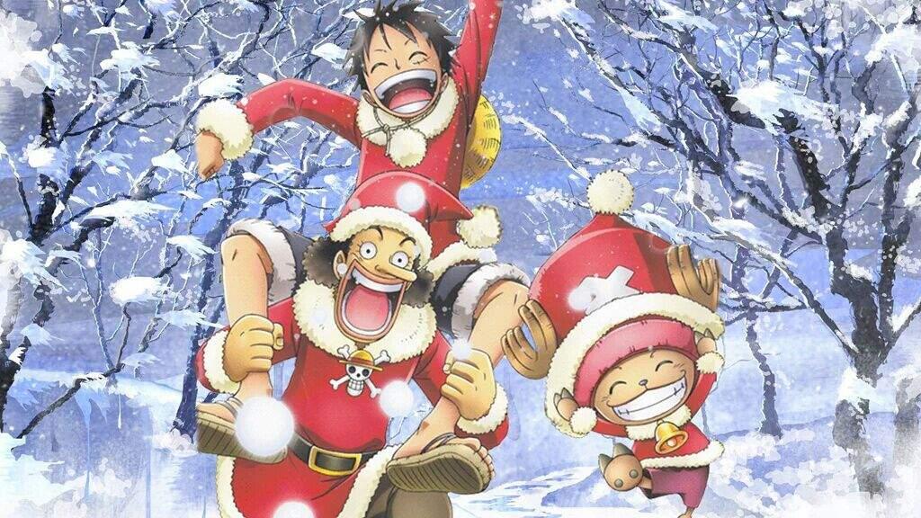 Anime Christmas Wallpaper.My One Piece Christmas Wallpaper Anime Amino