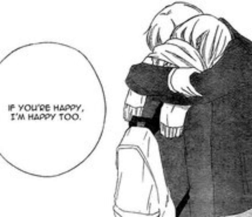 Behind Anime Girl Hugging Crying Boy