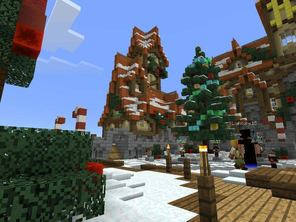 Hypixel PE NEW Christmas Lobby With A Cool New Thing Too | Minecraft