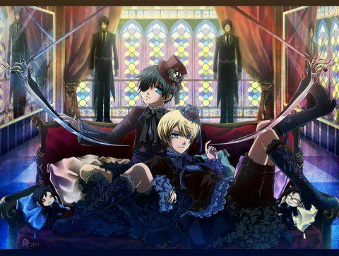 two adorable brats and one simply hell of a butler - Black Butler Christmas