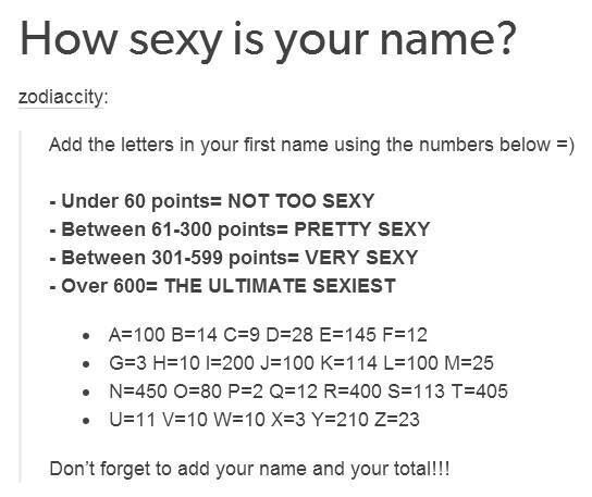 How sexy is your name foto 130