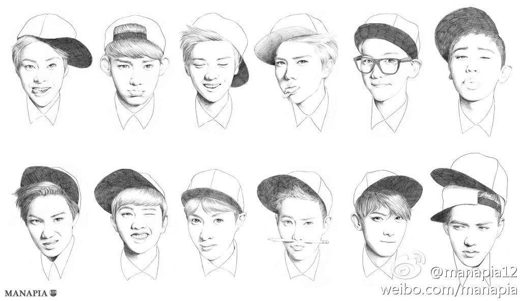 exo coloring pages   EXO FanArt (part 3)   K-Pop Amino