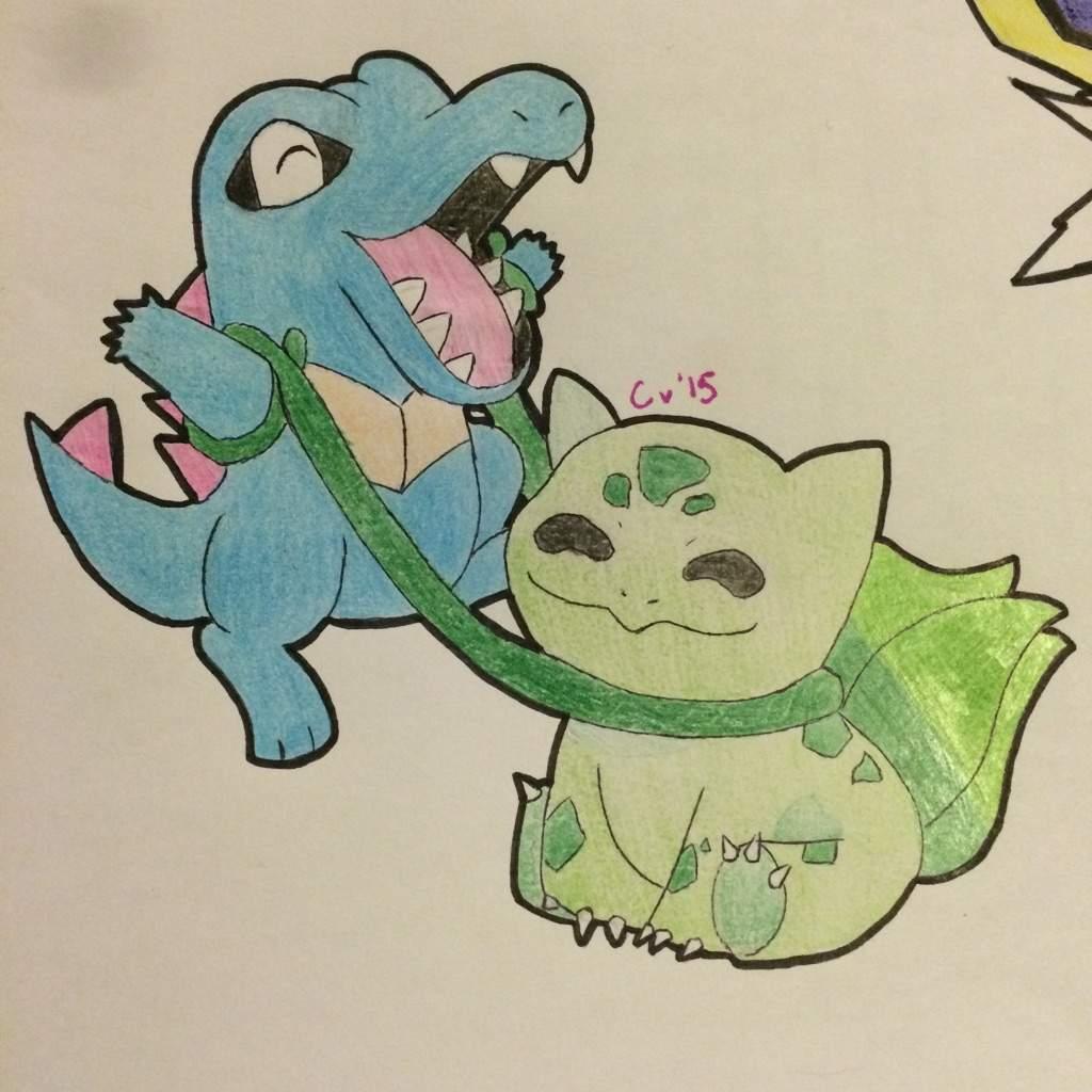 Totodile Bulbasaur Art Pokémon Amino