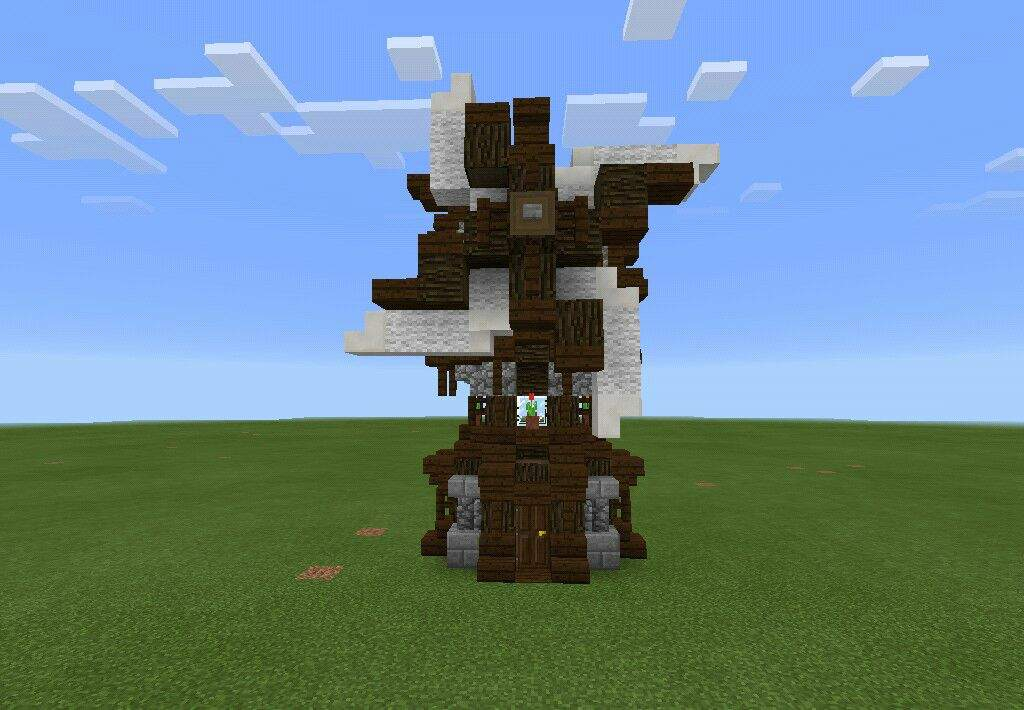 Medieval Windmill In Minecraft Pretty Much Inspired Jackfrostminers Survival Hope You Guys Like My Build And See The Next One