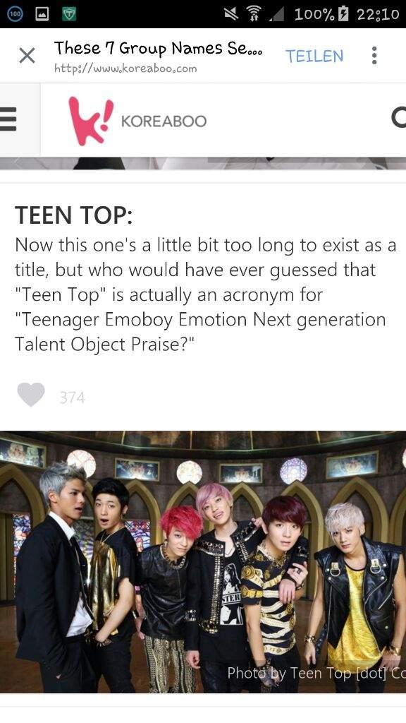 Teen top acronym