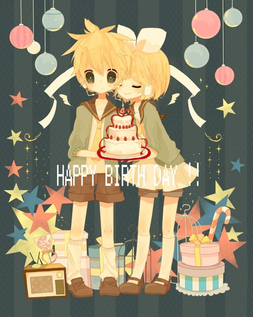 Anime Characters Birthday September 5 : Happy birthday rin len anime amino