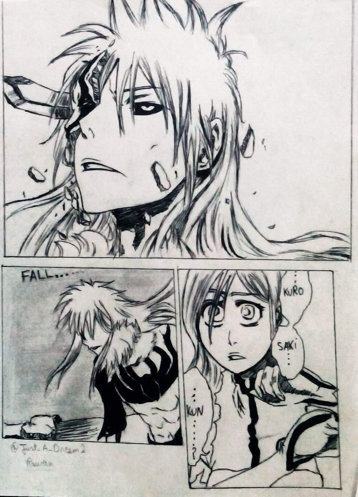 Bleach Bleachmanga Bleachdrawing Orihimeinoue Ulquiorra Ulquiorracifer Ichigo Ichigokurosaki Drawing Manga Mangaka Mangaart Anime Animeart