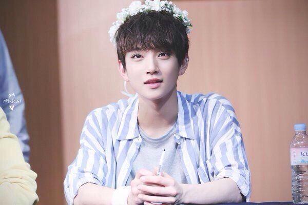 male idols in flower crowns k pop amino