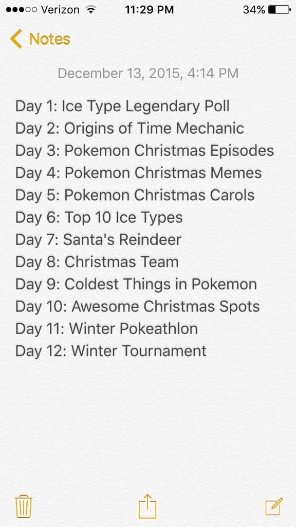 Twelve Days Of Christmas Notes.Pokemon 12 Days Of Christmas Day 3 Pokemon Amino