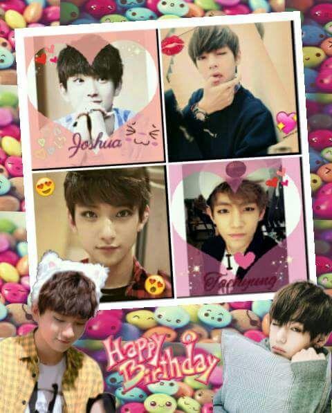 Happy Birthday Hong Jisoo Joshua And Kim Taehyung V So Happy