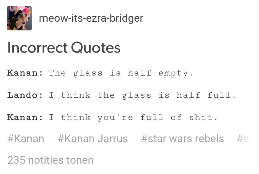 Incorrect Quotes Star Wars Amino