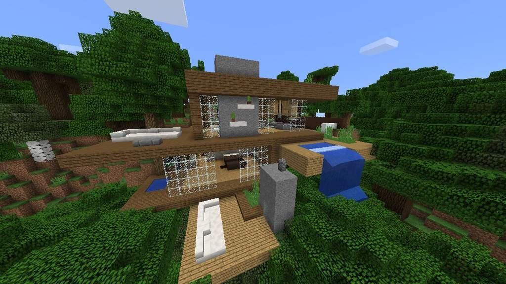 Modern Wood House Minecraft Amino