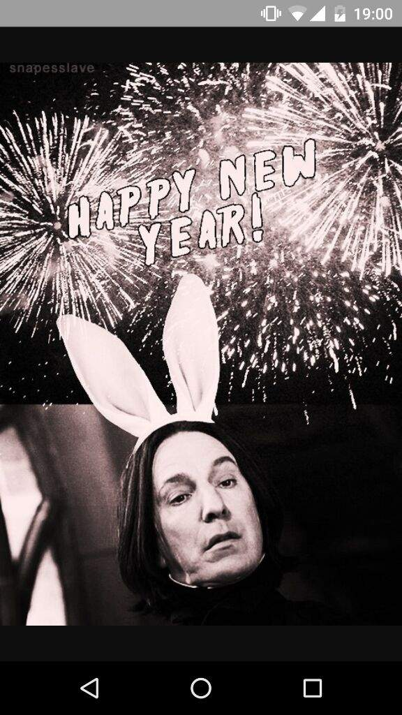 severus snape wishes happy new year