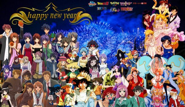 Image result for happy new year anime