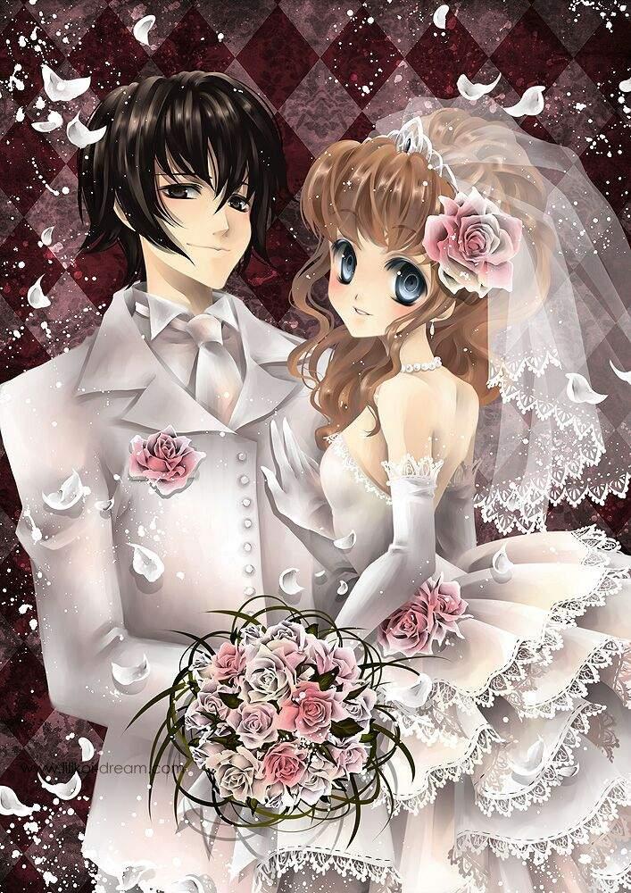 Открытки, смешные картинки свадьбы аниме