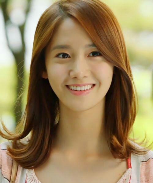 Yoona brown hair