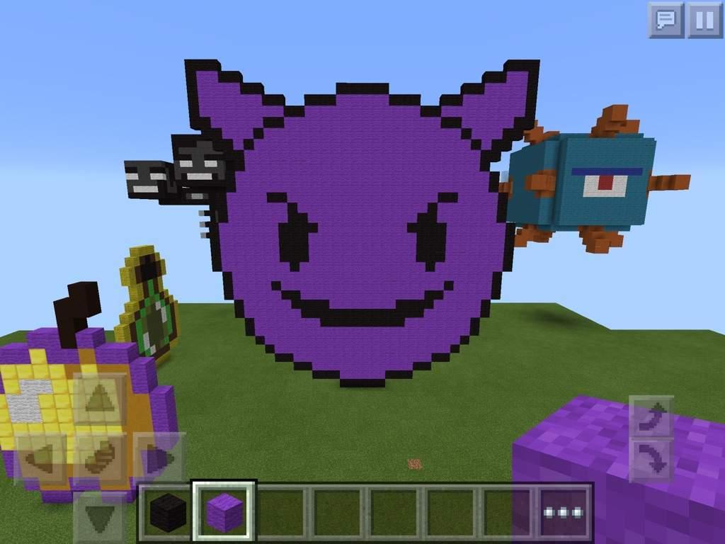 Devil Emoji Pixel Art Minecraft Amino