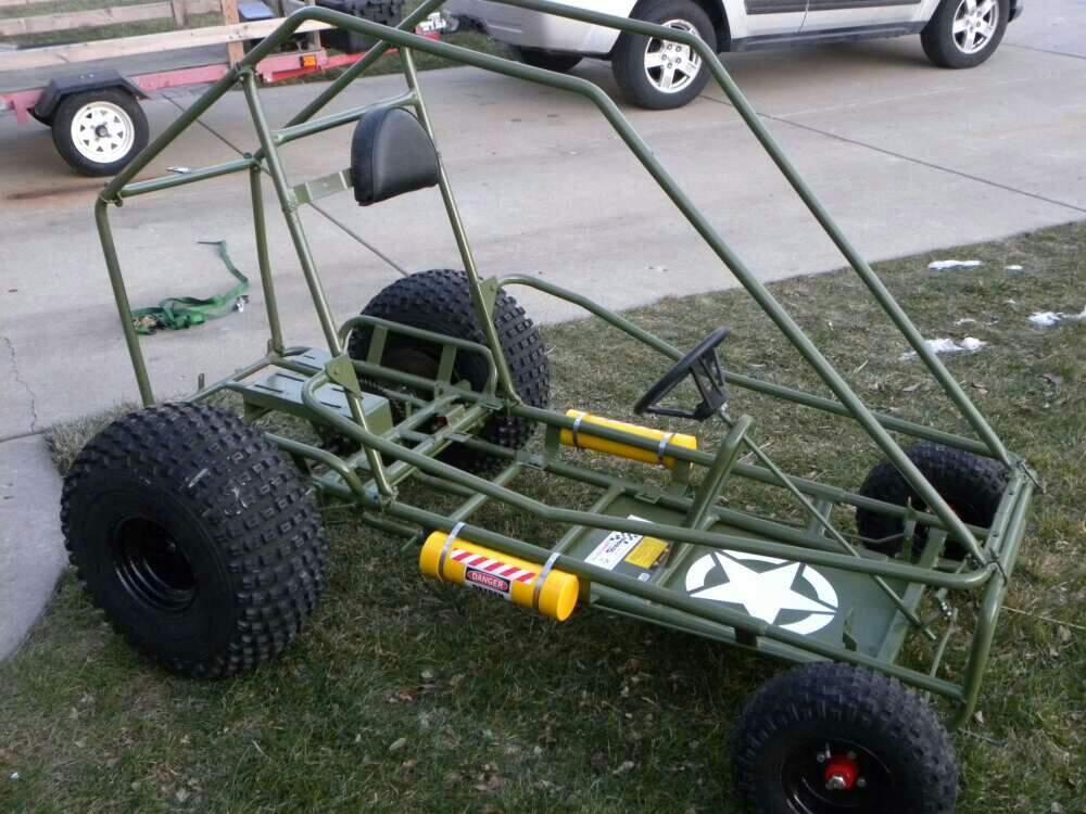 Streaker Military Themed Go Kart Frame. | Garage Amino