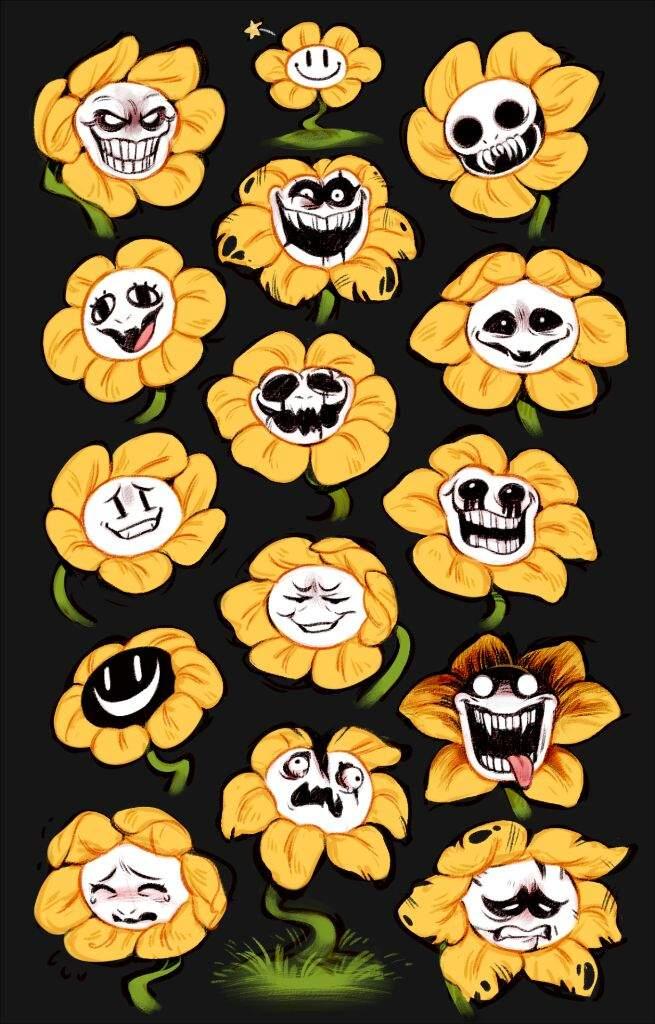 The many faces of Flowey (Undertale) | Horror Amino