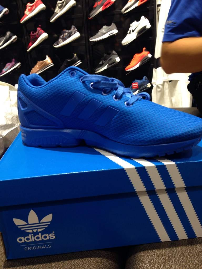 best website fb70a 66286 Just copped some all blue zx flux | Sneakerheads Amino