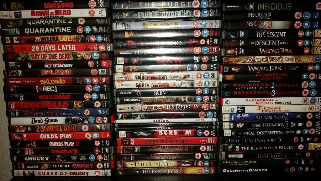 My horror film collection (and figures)   Horror Amino