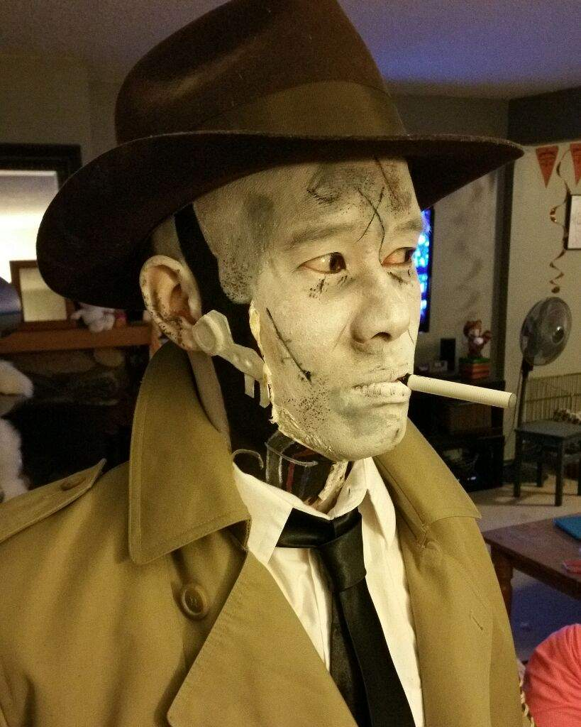 Schön Fallout 4 Nick Valentine Makeup.