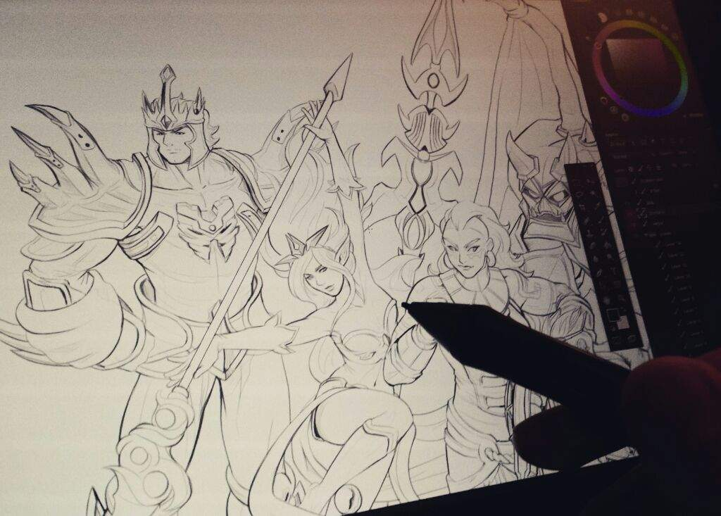 Every League Champion Live Drawing League Of Legends