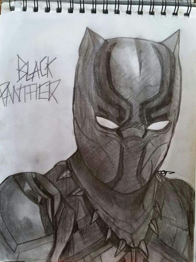 i decided to draw this because of the up coming novie civil war and i just wanted to draw black panther because he is an awesome marvel character in my