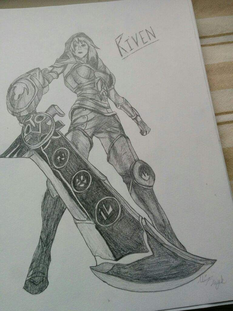 Redeemed Riven Drawing | League Of Legends Official Amino